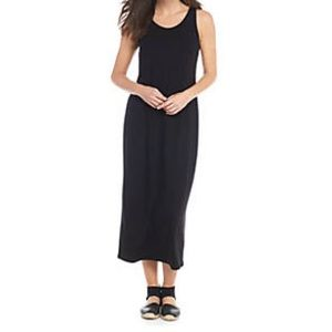 Eileen Fisher Scoopneck Silk Tank Dress in Black